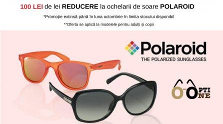 OFERTA lunii: 100 de lei reducere la orice pereche de ochelari de soare POLAROID